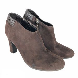 Ann Taylor Loft Brown Suede Leather Ankle Boot